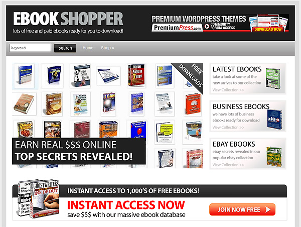 eBook Shop Theme