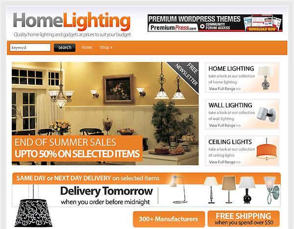 lighting shop theme wordpress shopping cart
