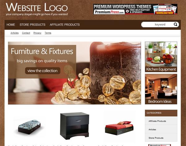 Alive Furniture Theme Wordpress Shopping Cart